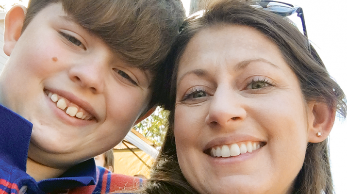 Eryn Balch is joined by her son, 11-year-old Levi, who was diagnosed on the autism spectrum at age 3.