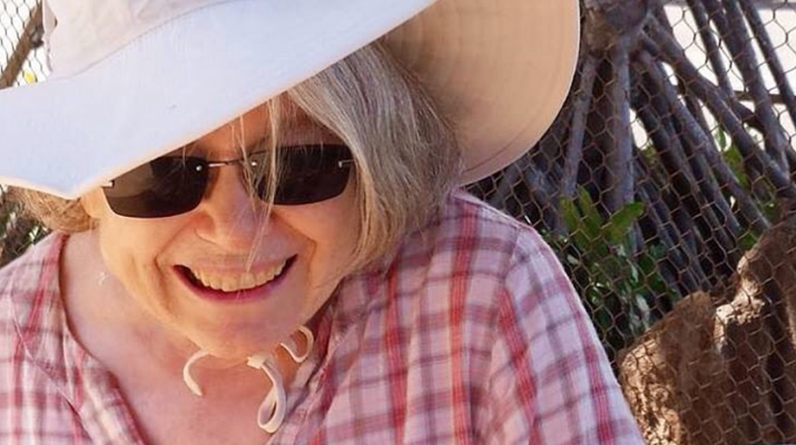 Mary Yost enjoys a blissful moment while battling Parkinson's disease.