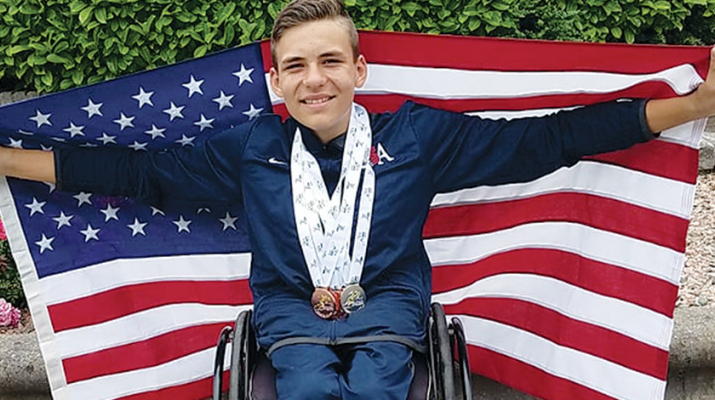 Teenage wheelchair sensation Jason Robinson of Westmoreland is competing on the highest level.