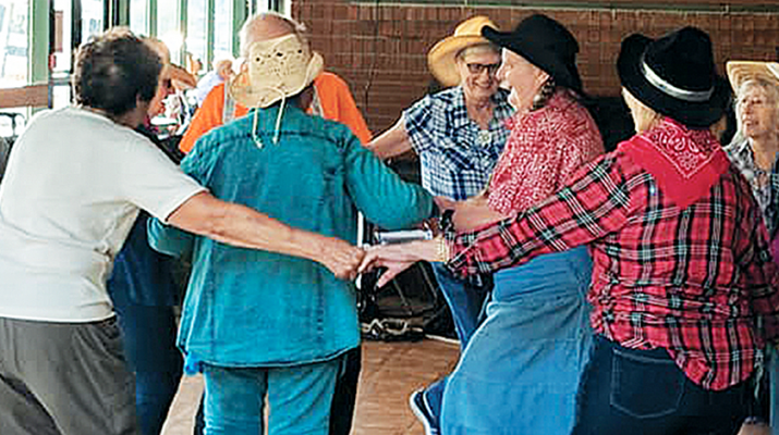 Parkway Center, Memorial Parkway, Utica, recently hosted a dinner dance hoedown that featured a chicken barbecue with all the fixings, entertainment and line dancing.