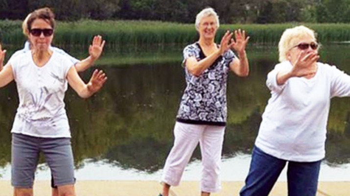 A group of senior citizens explore the wonders of tai chi.
