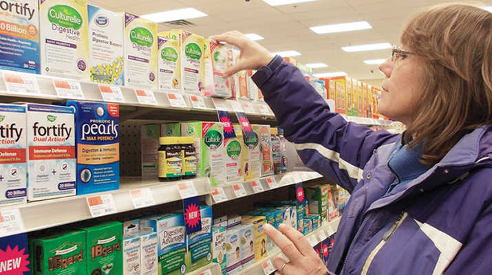 Maureen Westervelt of Ilion checks out probiotics at Kinney Drugs in Ilion recently.