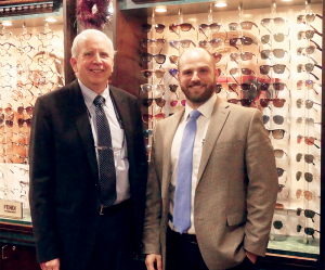 Alexander R. Harris, MD, right, joins his father, Dr. Alan D. Harris, in the practice of ophthalmology at Slocum-Dickson Medical Group in New Hartford.
