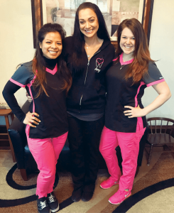 Zalatan Dental: Modern Dentist is led by health care professionals that include, from left, Dr. Salina Suy, along with colleagues Amy and Leah.