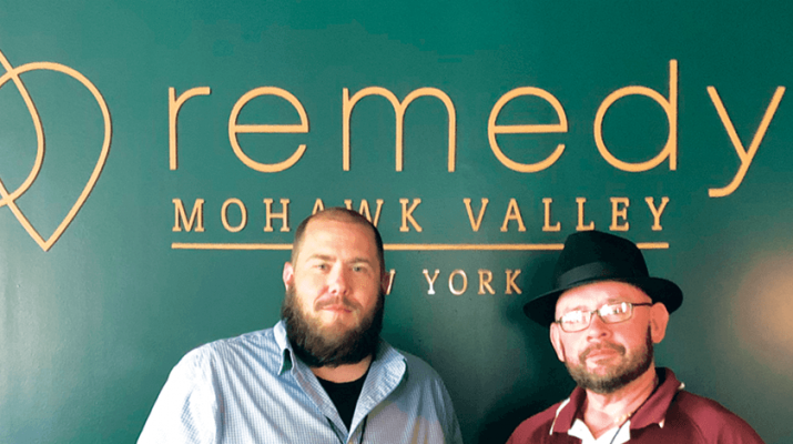 Pictured above are Dave Katz, left, and Jason Browne of Remedy NY in New Hartford.