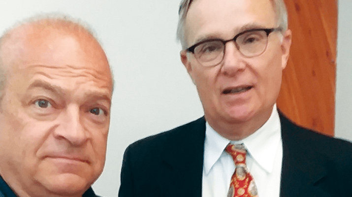 Local radio talk show host Bill Keeler, left, joins former Boilermaker President Tim Reed in launching a major health care initiative.