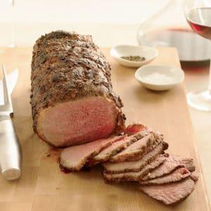 coriander dusted roast beef