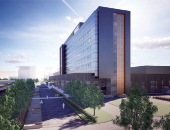 Above is a digital image of what the new regional medical center will look like in downtown Utica.
