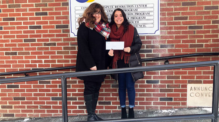 "Herkimer HealthNet Executive Director Elyse Enea, left, presents a $3,700 check to Rae Raffle-Maxson of Herkimer County Catholic Charities in support of its RIDE Program that provides health care transportation in rural communities for residents aged 55 and over. Enea said one of the primary barriers in access to health care in rural communities is transportation. ""The RIDE program is a critical service for older individuals who may not have other alternatives for transportation,"" said Enea, noting RIDE supports transportation for seniors to their medical appointments. RSVP volunteers serve as dispatchers and drivers to operate the RIDE program. However, the program is in need of volunteer drivers. If anyone is interested, contact Raffle-Maxson at 315-894-9917."