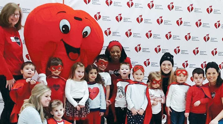 Four-year-old Peter Corigliano, of Rome, served as one of three Red Cap Ambassadors during the 2020 Rome Indoor Heart Walk held recently. Above, Corigliano's class at King's Kids Christian Preschool attended the walk as Team Peter. Pictured at front left are Peter and his mother, Ashley Corigliano, shown seated.