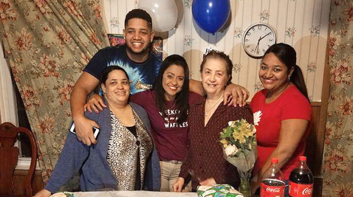 Consuelo Parra, second from right, and her family gathered recently. Parra had a long history of heart disease before having open-heart surgery.