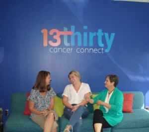 13thirty Cancer Connect: Amy Bobbette, left, Erin Beitz and Lauren Spiker, founder and executive director of the nonprofit.